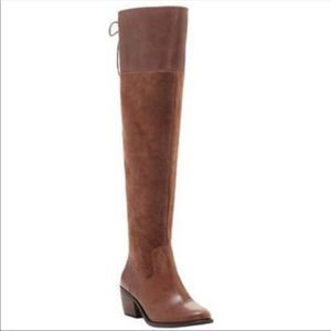 New lucky brand brown konah over the knee boots